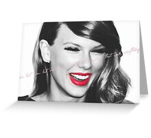 red lip classic Greeting Card