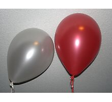 Mr & Mrs Balloon Photographic Print