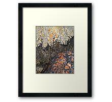 Topography of Boulders Framed Print