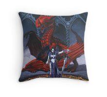Akasha and the Blood Dragon Throw Pillow