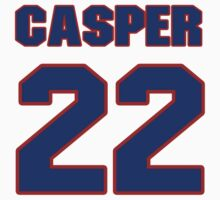 National baseball player Casper Asbjornson jersey 22 by imsport