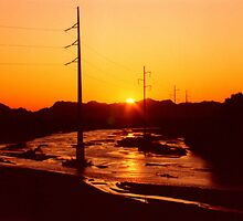 Rillito River Sunset by Harlan Mayor