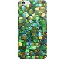 Wet Water Green Yellow Square Tile Mosaic Pattern iPhone Case/Skin
