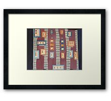 Frames on Purple Framed Print