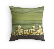 Green Night (painting) Throw Pillow