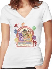 Freddy Fazbear's Birthday! (survivor version) Women's Fitted V-Neck T-Shirt