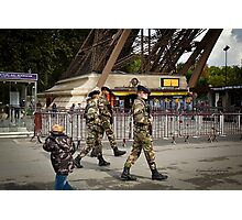 Modern Day Threats - Eiffel Tower - Paris Photographic Print