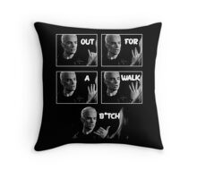 Spike - Out for a walk B!tch Throw Pillow