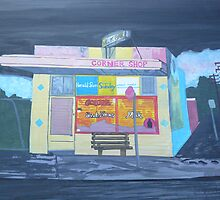 Milkbar at Night by Joan Wild