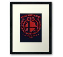 SMASH CLUB (RED) 2 Framed Print
