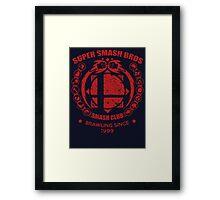 SMASH CLUB (RED) Framed Print