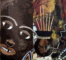African Collage by Ruth Palmer