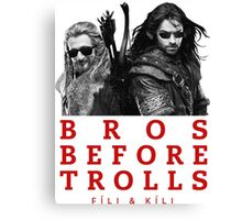 Fili & Kili: Bros Before Trolls Canvas Print