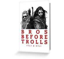 Fili & Kili: Bros Before Trolls Greeting Card