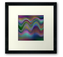 Colorful electric waves Framed Print
