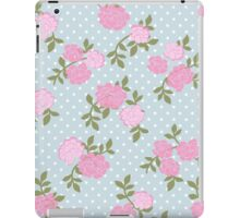 Shabby Chic Polka Dots, Roses - Blue Pink Green  iPad Case/Skin