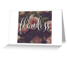 Beyonce Flawless Floral Design Greeting Card