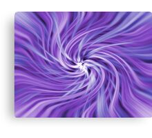 Purple and Blue Swirling Abstract Canvas Print