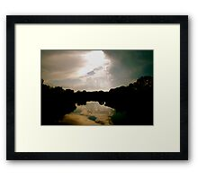 Cloud Reflections in the Pond Framed Print
