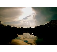 Cloud Reflections in the Pond Photographic Print