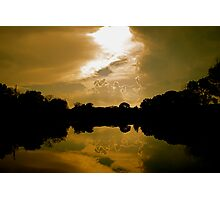Warm Clouds in the Water Photographic Print