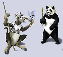 Donkey Xote and Sancho Panda by robCREATIVE