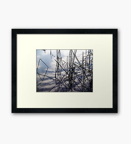 summer in the sky Framed Print