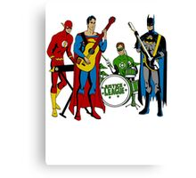 Justice League Rock Band T-Shirt Canvas Print