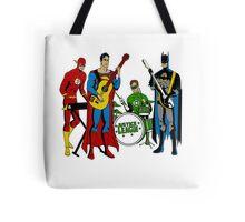 Justice League Rock Band T-Shirt Tote Bag
