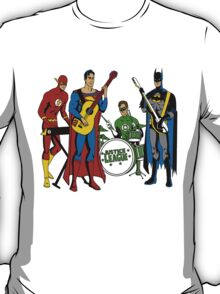Justice League Rock Band T-Shirt T-Shirt