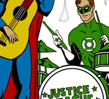 Justice League Rock Band T-Shirt Sticker