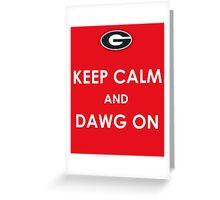 GA Bulldogs Greeting Card