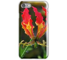 Fire-Flame Lily Kissed with Raindrops iPhone Case/Skin