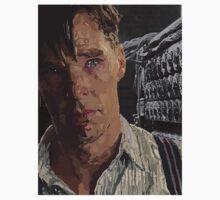 The Imitation Game - Benedict Cumberbatch Digital Portrait  One Piece - Short Sleeve