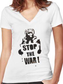 StopIt Women's Fitted V-Neck T-Shirt