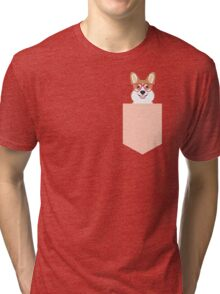 Corgi Love - Welsh Corgi funny nerd art dog lover gifts for pet owners customizable dog gifts Tri-blend T-Shirt