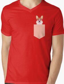 Corgi Love - Welsh Corgi funny nerd art dog lover gifts for pet owners customizable dog gifts Mens V-Neck T-Shirt