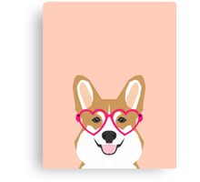Corgi Love - Welsh Corgi funny nerd art dog lover gifts for pet owners customizable dog gifts Canvas Print
