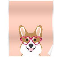 Corgi Love - Welsh Corgi funny nerd art dog lover gifts for pet owners customizable dog gifts Poster