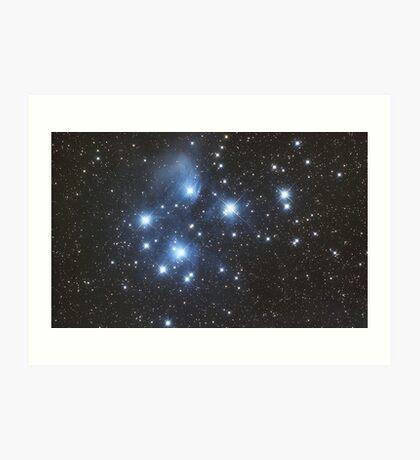 Pleiades Star Cluster Art Print