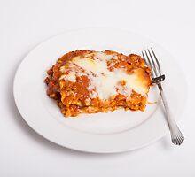 Lasagna on White by dbvirago