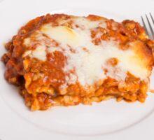 Lasagna on White Sticker