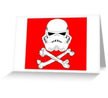 StormTrooper dead bones.  Greeting Card