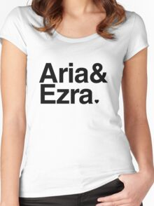 Aria & Ezra - black text Women's Fitted Scoop T-Shirt