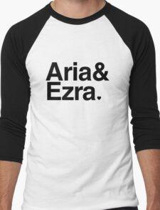 Aria & Ezra - black text Men's Baseball ¾ T-Shirt