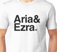 Aria & Ezra - black text Unisex T-Shirt