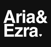 Aria & Ezra - white text T-Shirt