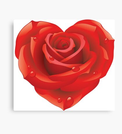 Heart - rose Canvas Print