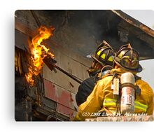 fire: Touching the flame Canvas Print