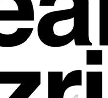 Team Ezria - black text Sticker